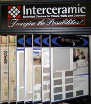Interceramic tile